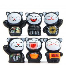 Fortunati gatti - Lotto di 6 gatti Maneki Neko - portafortuna