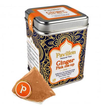 """Infusion, organic indian ginger. Recipe ayurvedic """"Pavilion""""."""