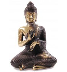 Statuette Bouddha Vitarka Mûdra en bronze H14cm. Série limitée.