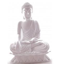 Statua di Buddha seduto in chiamata la terra del bianco deco artigianale zen