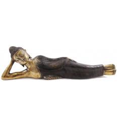 Testa di Buddha. Realizzata artigianalmente in bronzo a15cm. Zen Decorazione.