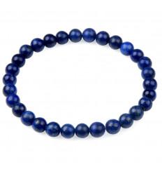 Bracelet Lithothérapie perles 6mm Lapis Lazuli naturel - Bonne humeur et amitié.