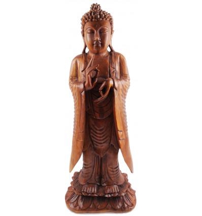La grande statua scultura del Buddha di legni rari, deco zen.