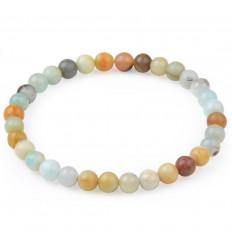 Bracelet Lithothérapie perles 6mm en Amazonite naturelle - Apaisement, spontanéité, anti-stress