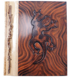 Album di foto Geco, legno naturale, 40 punti di vista. Prodotto artisanalement.
