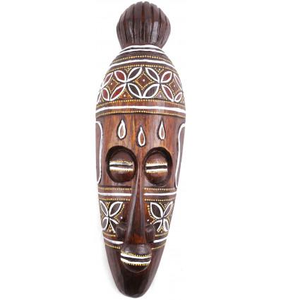 Mask decor turtle batik wooden 30cm