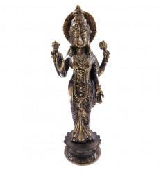 Statuette Dewi Laksmi en bronze Hcm. Artisanat asiatique.