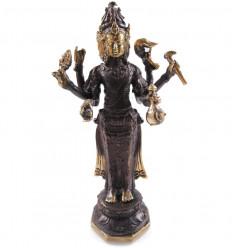 Statuette Vishnu bronze H12cm. Crafts asian.