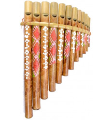 12-beak bamboo pan flute, hand-painted hand-crafted.