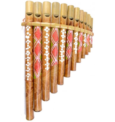 Pan Flute bamboo (grand modele) music Instrument or object deco !
