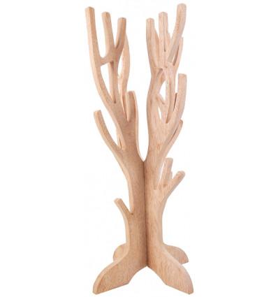 Gioielli albero per collane, bracciali, orologi, in legno massello lordo