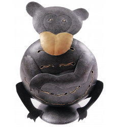 Photophore singe en fer forgé 24cm