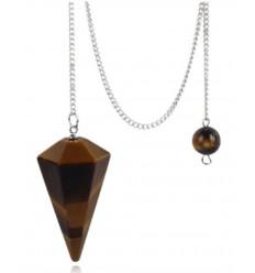 Pendolo in Ametista, a forma di cono lucido.