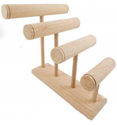 Great display stand for bracelets/watches 4 rods raw wood