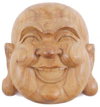 Mask of the Buddha inside in exotic wood gross H20cm