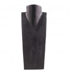Buste - Présentoir à colliers en bois massif noir H35cm