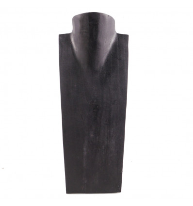 - Bust Display necklaces in solid wood black H35cm