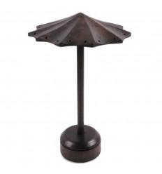Présentoir à boucles d'oreilles forme Parasol en bois couleur marron