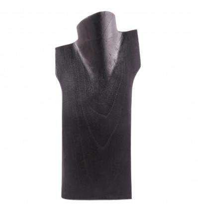 Buste de présentation, présentoir à colliers incliné bois noir h30cm