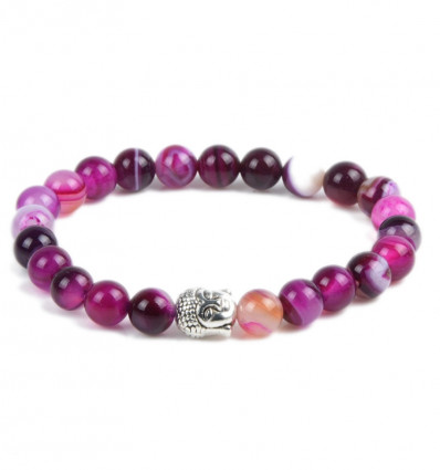 Bracelet stone agate pink. Purchase cheap, free shipping.