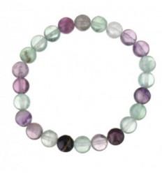 Bracelet Lithothérapie en Fluorite multicolore naturelle - Concentration et organisation