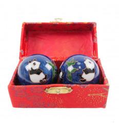 Boules de Qi Gong - Relaxation et Santé chinoises au motif Panda 45mm