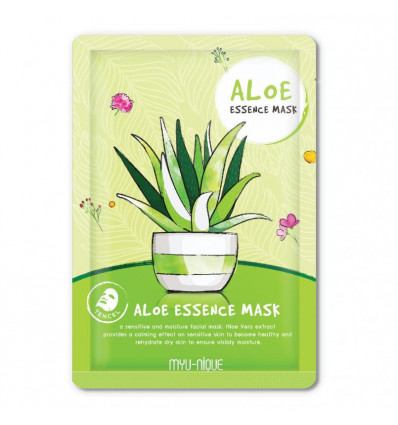 Treatment mask for the face with aloe vera anti-wrinkle, purchase.