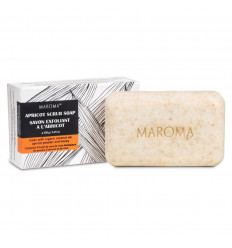 Scrub soap with apricot and honey vegan, fair trade, Maroma