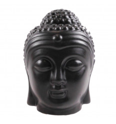 Brule perfume head of the Buddha Zen ceramic handcrafted black