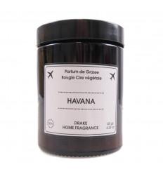 """Bougie parfumée cire végétale """"Havana"""" senteur bois de cèdre Drake."""