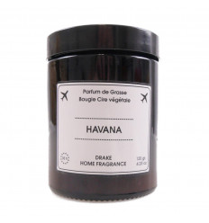 "Scented candle, vegetable wax ""Havana"" scent of cedar wood Drake."