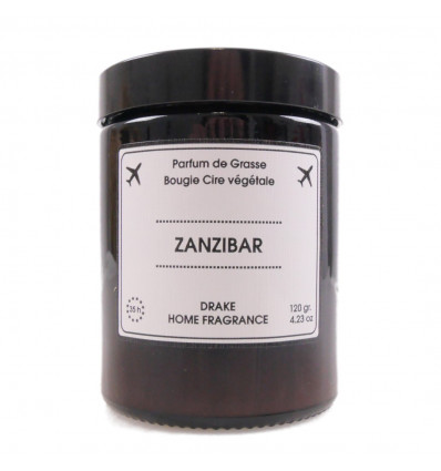 "Scented candle, vegetable wax ""Zanzibar"" scent jasmine chypre, Drake."