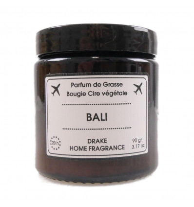 "Scented candle, vegetable wax ""Bali"" wood of a fig tree jasmine, Drake."