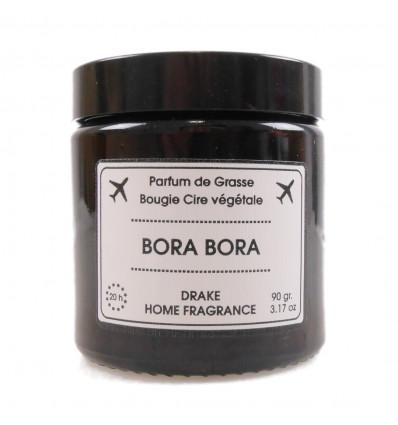 "Scented candle, vegetable wax ""Bora Bora"" flower of tiaré, Drake."