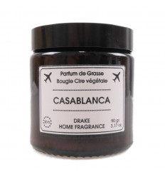 "Scented candle, vegetable wax ""Casablanca,"" Musk amber spices, Drake."