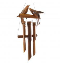 Carillon à vent en bambou et noix de coco - Girafe