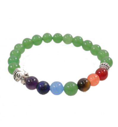 Bracelet 7 chakras Aventurine and 7-precious stones.