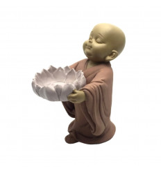 Candle holder Zen baby buddha candle heating-dish. Purchase cheap.