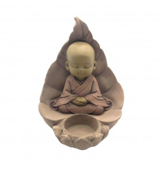 Candle holder baby buddha in meditation. Zen decoration cheap, purchase.
