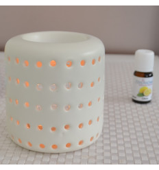 Brule perfume candle cheap, candle holder design with white ceramic.
