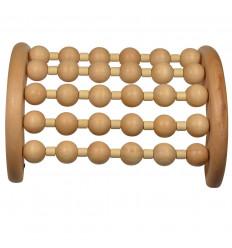 Massager wooden feet. Accessory, self-massage of the feet plantar.