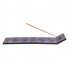 Porte-encens Yin Yang floral, mosaïque de verre. Pour bâtons.