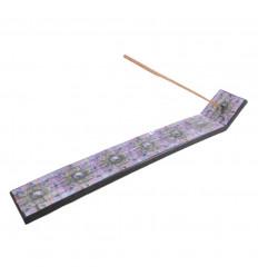 Porte-encens en bois motif Aum (Ôm) - pour batons
