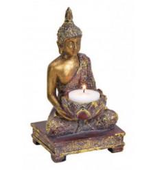 Candle holder Buddha meditation 18cm