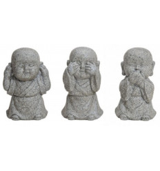 "The 3 monks ""secret of happiness"". Resin statues"