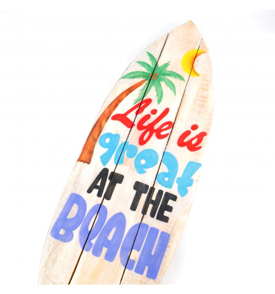 Grande enseigne 19cm forme Surf. Panneau déco murale en bois fabrication ar   eBay