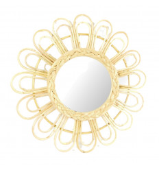 Large mirror round shape Sun 60cm. Home decor in the world.