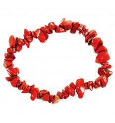 Bracelet baroque en Jaspe rouge - Protecteur suprême