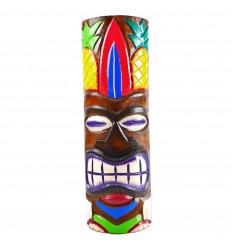 Totem Tiki l'artigianato del legno. Modello ananas 48cm. Deco esotici maori.