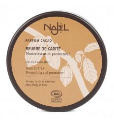 Beurre de karité BIO parfum cacao Najel. Nourissant et protecteur.